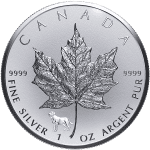 Silver Maple Leaf with 2018 Lunar Privy Mark - Year of the Dog