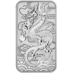 Silver Rectangler Dragon Coin